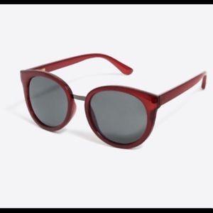 J Crew Red Currant Sunglasses EUC